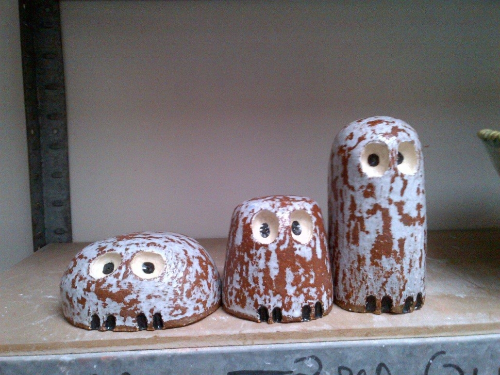 Owls modelled by Christine Sloan, Tuesday morning pottery class.#michellemaher #ceramics #Dublin #CeramicClass #stoneware #handmade #cone9 #glaze #clay #loveclay #ceramicstudio #ceramicforms