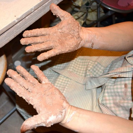 Getting our hands dirty at Dublin based ceramic course! www.ceramicforms.com