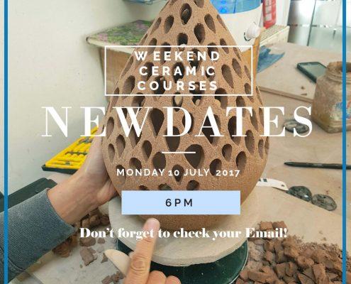 Weekend course, new date release. Coil built lantern in process by Herle Mette Andersen at Dublin based ceramics weekend workshop. www.ceramicforms.com