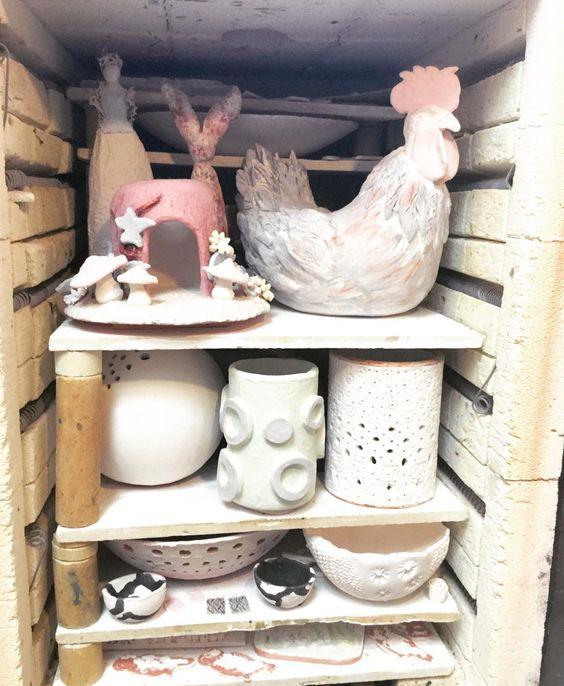 Glaze kiln getting ready for firing. Selection of students work including Bernie W, Lorraine O'C, Margaret D, Emily O'B, Cleo O'N, Gosia, Linda K, Annie O'N, Eveline H, Ellen E & Richard D. #beforeandafter #before #kilnlove #kiln #ceramicforms #ceramicclass #students #loveclay #stoneware #cone8 #dublin #handmade