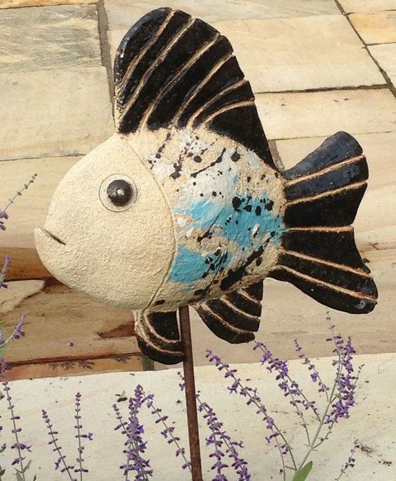 Fish modelled by Emily O'Byrne at Dublin based ceramic class. Electric fired to 1260°C (Cone 8). www.ceramicforms.com