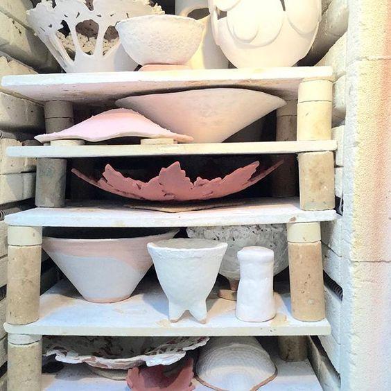 Glaze kiln getting ready for firing. Dublin based ceramic courses. www.ceramicforms.com #kiln #ceramicforms #ceramicclass #students #loveclay #stoneware #dublin