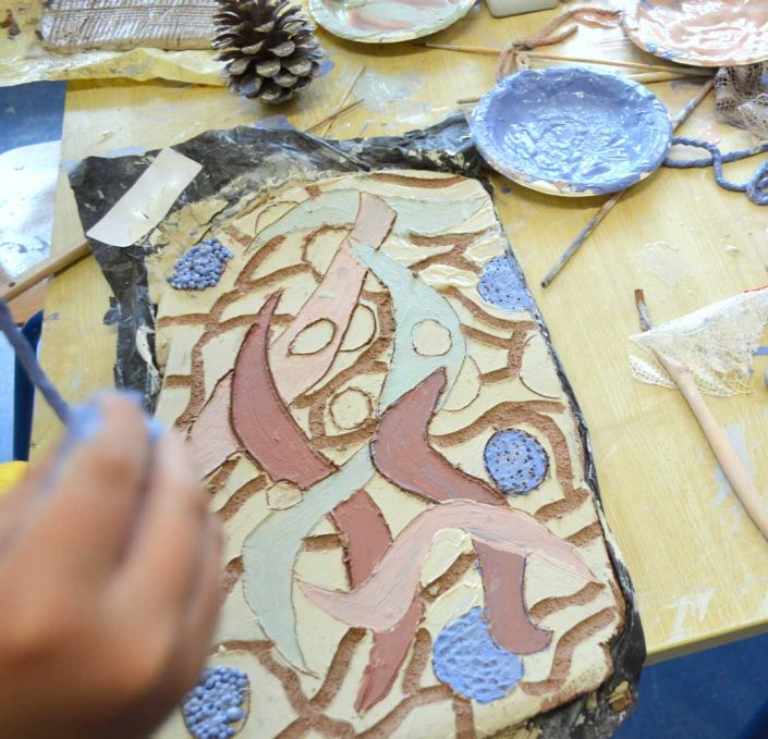 Collaborative Process. Public Art Project 2012 by Michelle Maher & the children & staff of Castaheany Educate Together National School, Dublin 15. Design & Crafts Council of Ireland CRAFTed initiative. We created a spiral wall sculpture inspired by Fibonacci numbers, the Golden Ratio & repeating spiral patterns in nature. www.ceramicforms.com