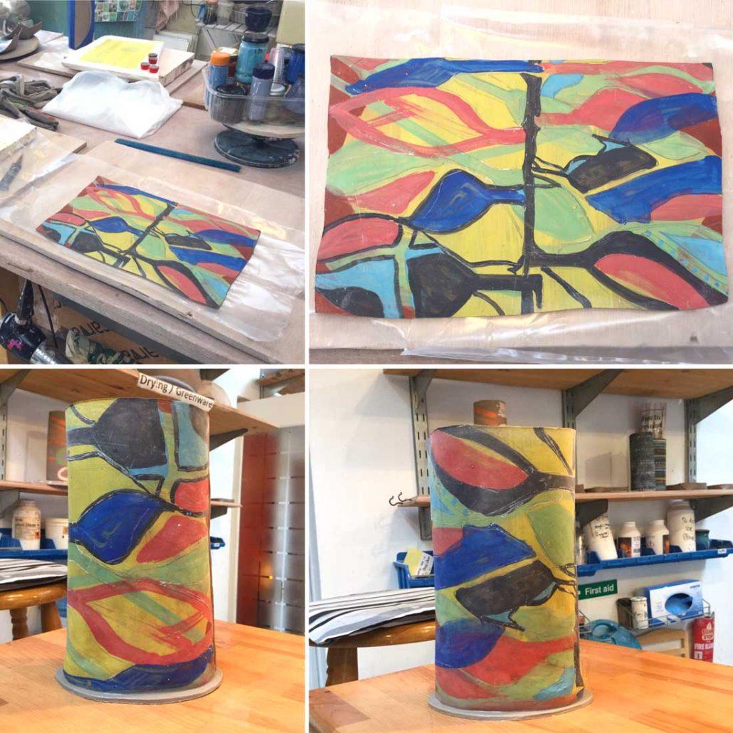 monoprinting_paper_clay_ceramic_forms #Dublin #CeramicClass #handmade #monoprint #clay #process #loveclay #ceramicforms #verakenny